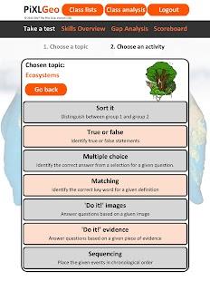 PiXL Geography App - náhled