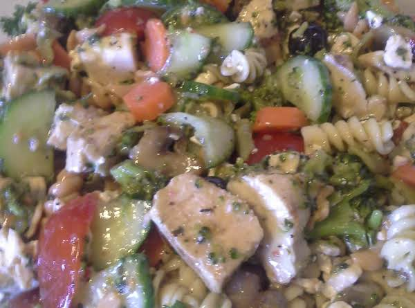 Grilled Chicken & Broccoli Pasta Salad Recipe