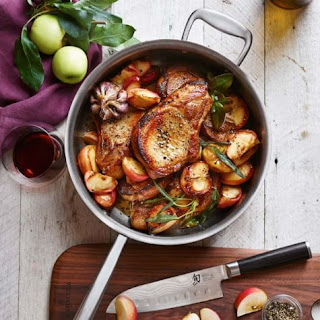 Pork Chops with Apples and Sage.