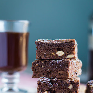 Mocha Cashew Brownies