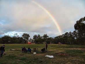 Photo: Admiring the rainbow
