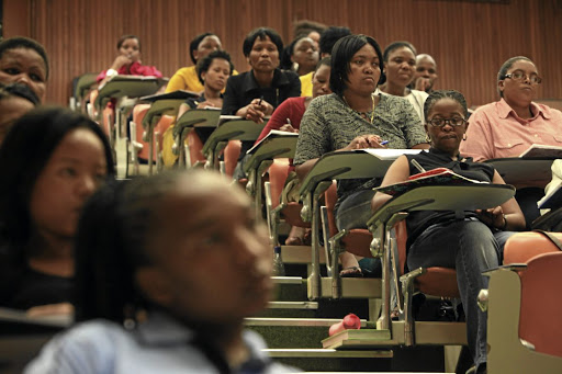 Learning to earn: Research shows that having a matric and tertiary education significantly increases the likelihood of finding work. However, despite remaining enrolled in school longer than men, young women face more challenges finding employment when they leave. Picture: SUNDAY TIMES
