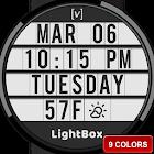 Digital watch face  LightBox  Cinema Sign Retro icon