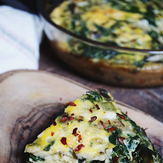 Spring Vegetable And Mushroom Frittata