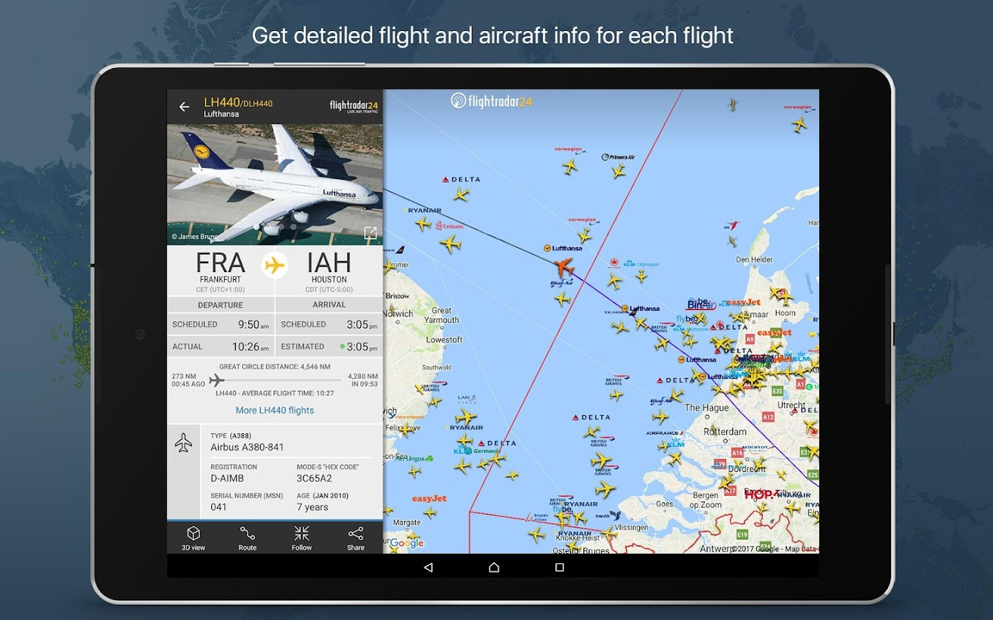 Flightradar24 Flight Tracker: captura de pantalla