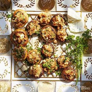 Blue Cheese- and Walnut-Stuffed Mushrooms