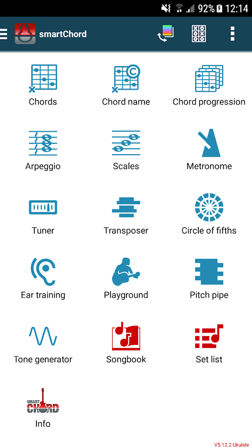 smart Chords & tools (guitar, bass, banjo, uke...- screenshot