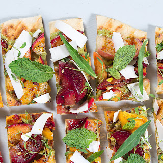 Grilled Peach and Plum Flatbreads