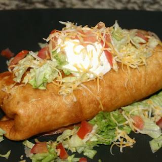 Beef & Bean Chimichanga.