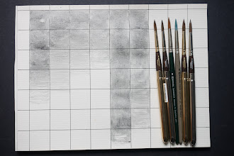 Photo: Comparing Escoda Versatil watercolour brushes with the others