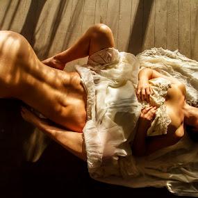 I couldn't wait by James Wayne - Nudes & Boudoir Boudoir ( boudoir photography, lingerie, boudoir, modeling, art, duos, implied, portrait )