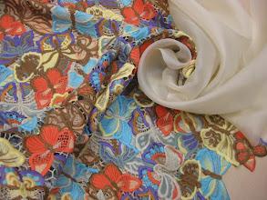 Photo: Ткань: фриволите, ш. 115см., цена 15000р. Ткань: муслин , ш. 145 см., цена 2500р.