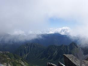 屏風の頭と蝶ヶ岳