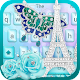Blue love in Paris tower keyboard theme Download on Windows