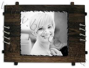 Photo: Фотокамень на деревянной основе с черно-белой фотографией. Размер фото - 25*28см, рама из дерева- 35*50см.