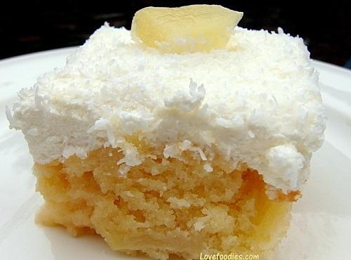 Pineapple & Coconut Cake Recipe