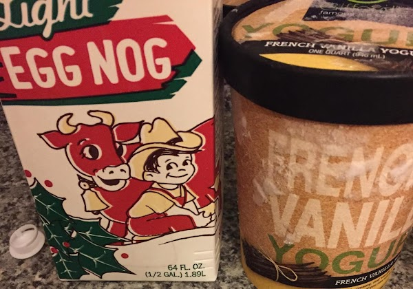 Place the eggnog, nutmeg, and cinnamon into a blender or food processor. Add in...
