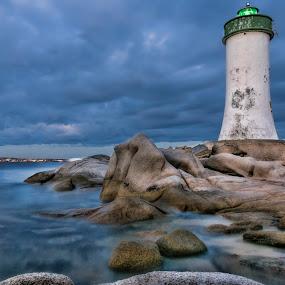 Porto Faro by Maurizio Mameli - Landscapes Waterscapes ( clouds, sky, sea, seascape, landscape, rocks, faro )
