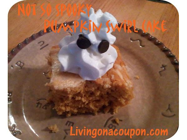 Not So Spooky Pumpkin Swirl Cake Recipe