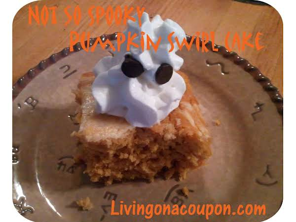 Not So Spooky Pumpkin Swirl Cake