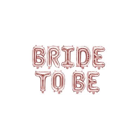 Folieballong - Bride to be, roséguld