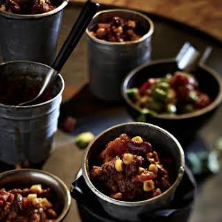 Chili con Carne with Cinnamon and Dark Chocolate.