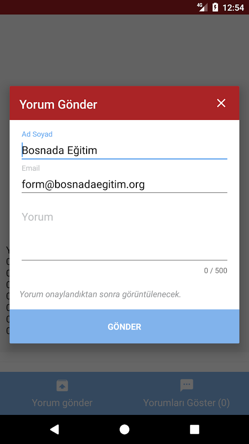 Bosnada Eğitim- screenshot