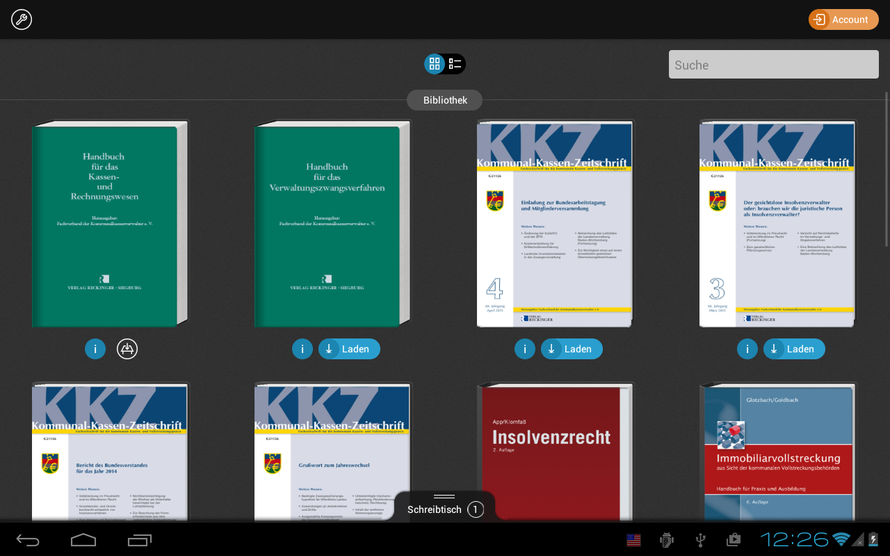 VollstR/Kasse – Screenshot