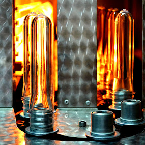 Pet fires by Daniela Elena - Products & Objects Industrial Objects ( fires, industrial machines, fire colours, pet production, industrial work, pet preforms )