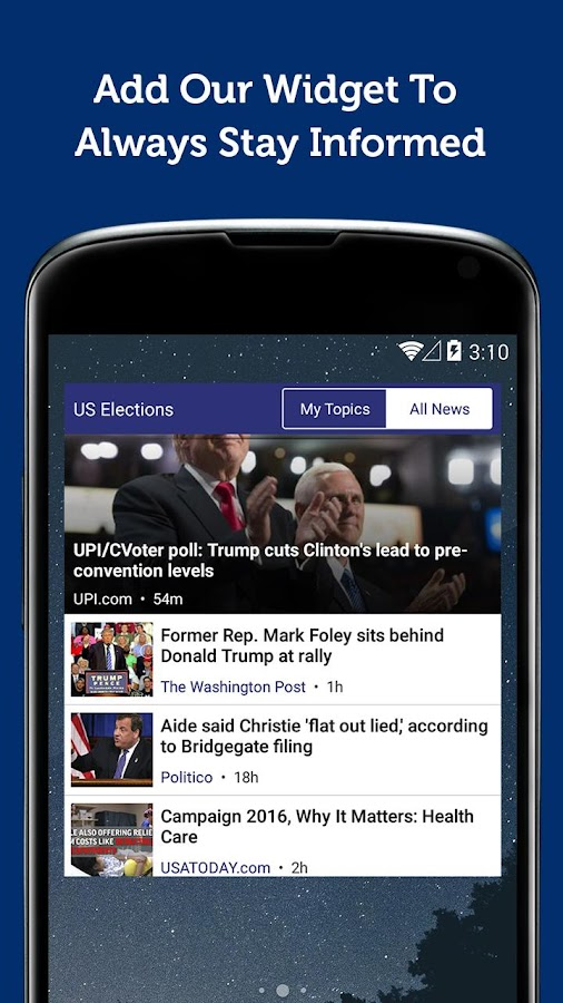 US Election 2016 News- screenshot