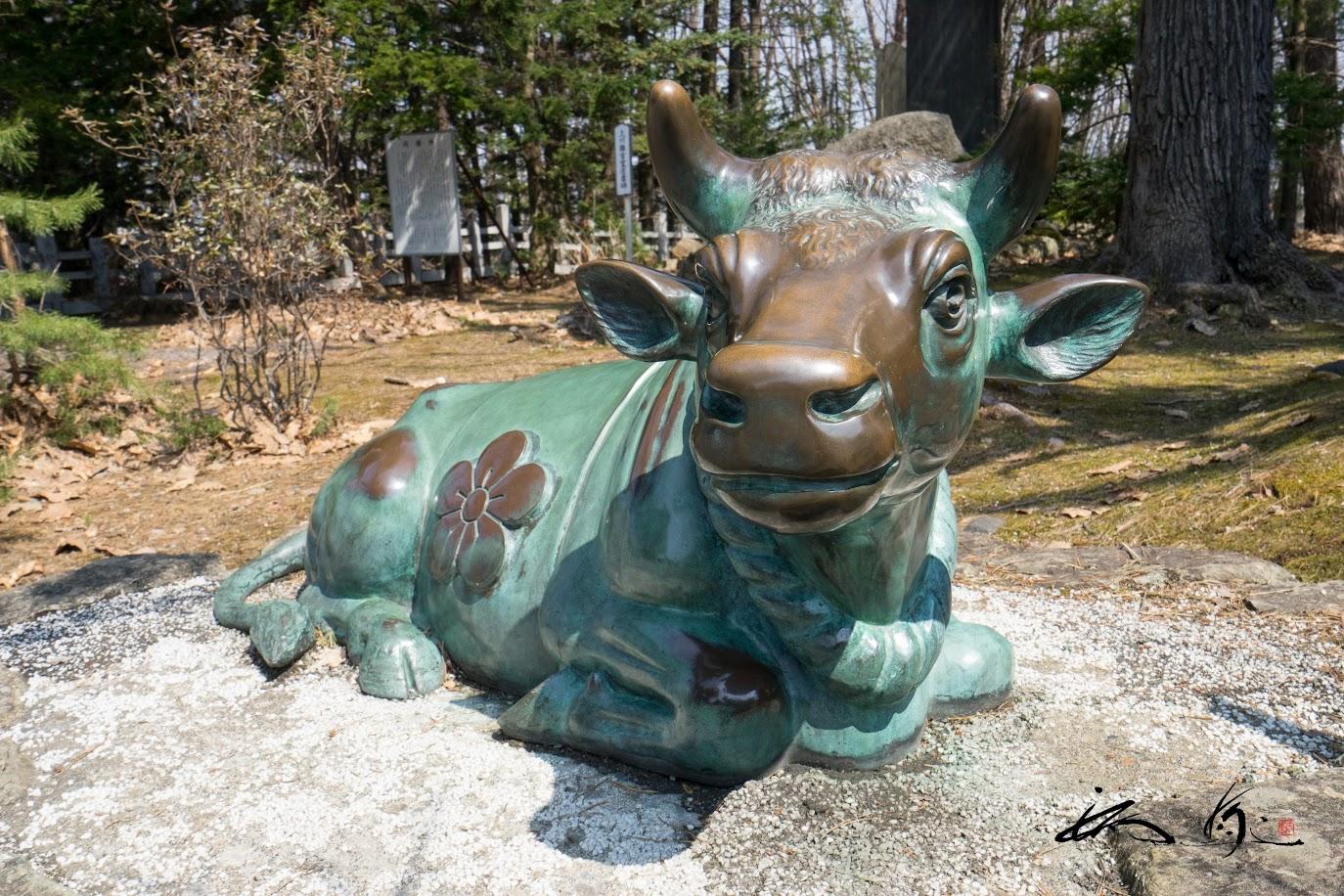 青銅の臥牛様