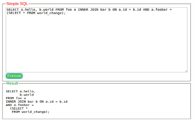SQL Format