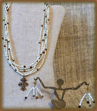 Photo: #196 FLOW OF THE CHEREMOSH ~ А ЧЕРЕМОШ ПЛИНЕ  Bronze hutsul cross, freshwater pearls, 14K gold vermeil $120/set    http://www.wikihow.com/Clean-A-Pearl-Necklace