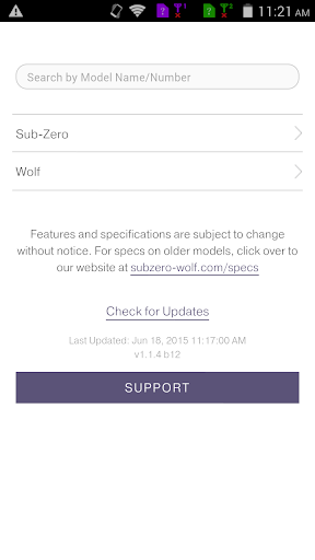 Mobile Specifications App