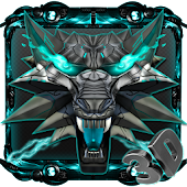 3d Neon Iron Wolf Theme Android APK Download Free By 3dthemecoollauncher