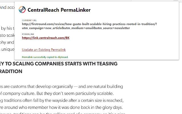 PermaLinker by CentralReach