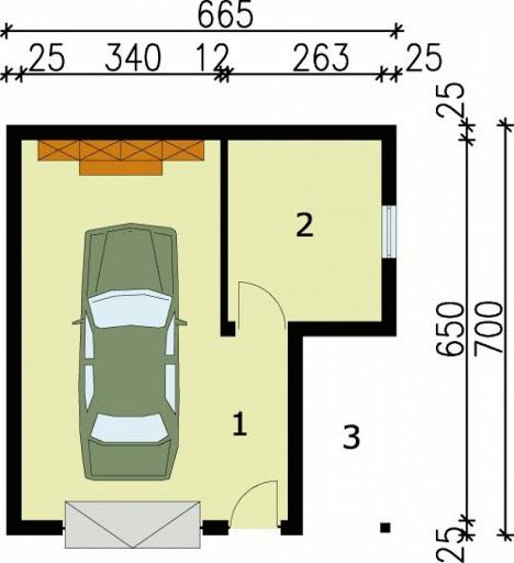 G21 - Rzut garażu