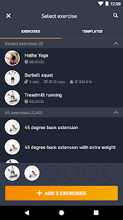eGym Fitness app- screenshot thumbnail