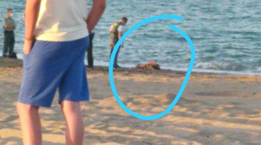 Detalle de la foto del cuerpo que corre por las redes sociales del Levante.