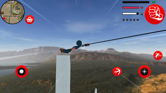 Download Us Capitain Stickman Rope hero Gangaster Crime For PC Windows and Mac apk screenshot 3