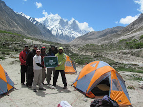 Photo: Day 5 - Camp at Bhojbhasa; Woodland, co-sponsors of the trip