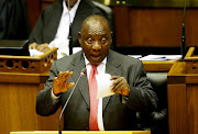 President Cyril Ramaphosa in Parliament.
