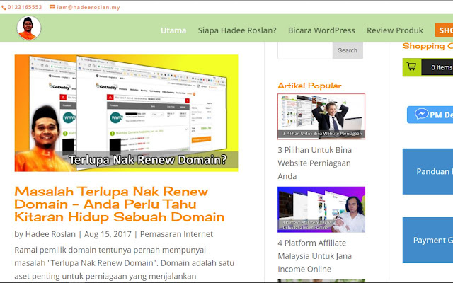 WordPress dan Pemasaran Internet Hadee Roslan