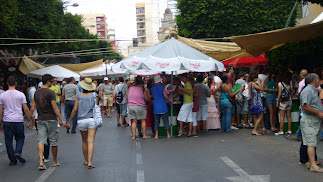 Imagen de archivo del Paseo de Almería durante una edición de la Feria.