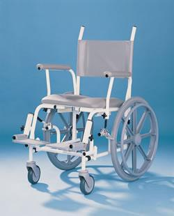 shower wheel chair with big wheels 011223