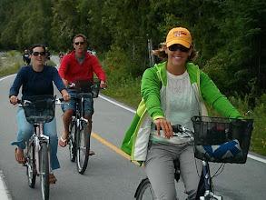 Photo: Circumnavigating Mackinac Island on bikes