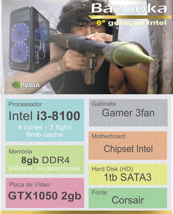 CPU Computador Bazooka - Core i3-8100