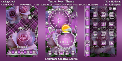 Download Tender Roses theme For PC 1