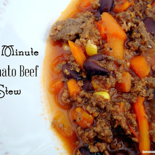 30 Minute Tomato Beef Stew
