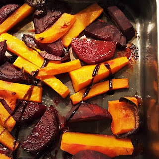 Roasted Butternut and Beetroot with Balsamic Glaze